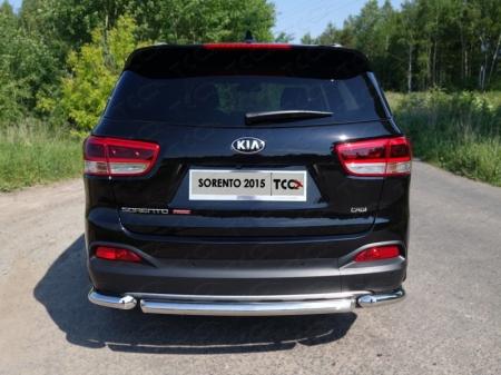 Защита задняя (короткая) 60,3 мм Kia Sorento 2015